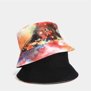 Eillysevens Bucket Hat Männer Frauen-Sommer-Bucket Cap gedruckt Mischungsfarbe Hip-Hop Hut Fischen-Fischer-Hut # Y30