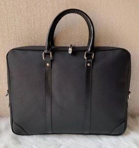 Kangaroo new men's bag leather business men's handbag cross section computer briefcase shoulder bag