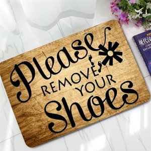 Please Remove Your Shoes Doormat Carpet Funny Indoor Outdoor Rubber Non Slip Floor Mat Rug Home Living Room Bathroom Decoration Y200527