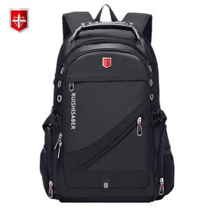 Oxford Swiss 17 дюймового ноутбук рюкзак Мужчины USB зарядки водонепроницаемого путешествия Рюкзак Женщина рюкзак Мужского Vintage School Bag Mochila T191021