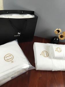 YENİ banyo havlusu tasarımcı işlemeli marka kare havlu plaj havlusu ve banyo havlusu 3 adet 1 set pamuklu kumaş rahat yumuşak