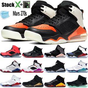 New Mars 270S 3M réfléchissantes chaussures de basket-ball Jumpman Top 3 BRiSéeS Backbord PSG INFRAROUGE 23 hommes lueur verte noir femmes Les chaussures de sport de marque