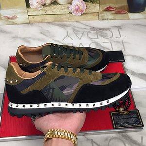 superventas 2019 diseñador zapatos hombre Stud remache camuflaje zapatillas de deporte zapatillas deportivas de deporte zapatos casuales tamaño unsex euro