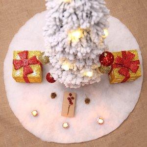 60см White Christmas Tree Юбки Base Напольный коврик Cover Xmas Party Домашнее украшение Ковер