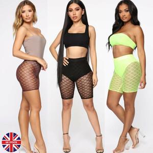 2019 a rete pantaloni delle nuove donne sexy Vedere attraverso pantaloni stretti Sheer Skinny elastico pantaloni di scarsità