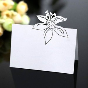 50pcs White Lace Name Place Cards Wedding Decoration Table Decor Table Name Message Greeting Card Baby Shower Party Supplies