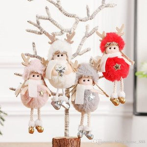 8 Styles Christmas Decoration Pendant Angel Plush Doll Christmas Tree Hanging Christmas Ornaments Decoration Home Charm Gifts HH9-2552
