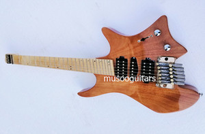 La marca Musoo avivó traste guitarra eléctrica sin cabeza con tremolo