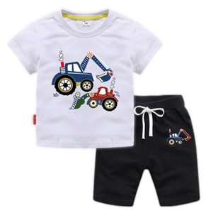 Summer Children Boy Girl Fashion Clothing Suits Baby Handsome T-shirt + Short Pants 2Pcs Sets 2019 Kids Clothes Sets Tracksuits