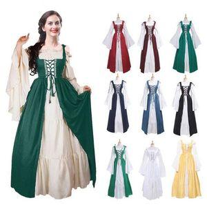 Qualidade Mulheres Vestidos de Halloween Retro Cinturão Trajes Mulheres Natal Trajes Cosplay Medieval Renascentista Roupas Vestidos de Festa CS002