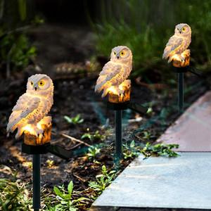 Led energia solare esterna illuminazione del giardino impermeabile Night Lights figura del gufo Energia lampada Owl palo decorazione prato luce