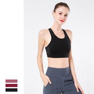 2020 Sports Bra Push Up Fitness Gym Underwear Beauty Back Thin Belt Padded Yoga Clothes Naked Feeling Sanding Sport Bra Top