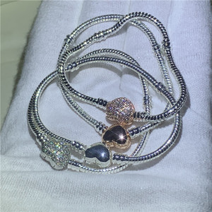 Handmade Fine Jewelry 925 Sterling Silver Charm Bracelet Bangle Soft Smooth Snake Bone Bracelets for Women DIY Jewelry
