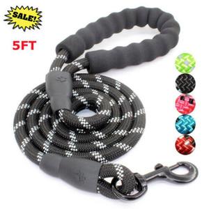 5FT Dog Leash intrecciato corda Pet conduce forte Soft per cani di taglia media grandi nel Regno Unito