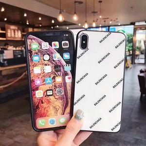 Glossy Carta de vidro Moda Luxo Casos Designer telefone para iPhone 11 Pro Max X XS MAX XR 6S 6 7 8 Plus Shell Celular tampa traseira A05