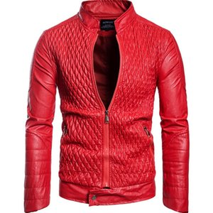Mens Designer Jacket Fashion Trend Stand Collar Zipper Closed Printed Plaid Motorcycle Apparel 2019 Fall New Boys Casual Wear Top Quality