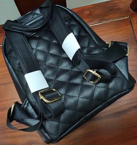 Nouveaux articles Noir Célèbre mode C Femmes Pu Diamond Vérifiez sac à dos sac de voyage sac de voyage sac de rangement pour dames collecter des articles de conception de luxe