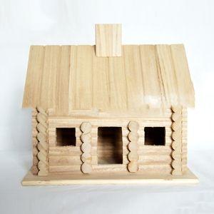 Твердая древесина Птичье гнездо детская древесина Раскрашиваемые игрушки Раскрашиваемые шелк печатных дерево ремесло Главная ремесло украшения