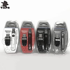 Neues Produkt 650mAh Vorwärmen der Batterie 650VV METRIX variable Spannung 3.4V ~ 4V CE3 Vape Pen 510 Faden-Batterie für dünne Vape-Patronen