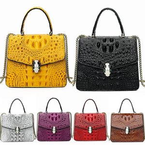 Free Shipping! Fashion Genuine Leather WomenS Crocodile Shoulder Bag Metis Bags Clutch Bags Messenger Purs Designer#908