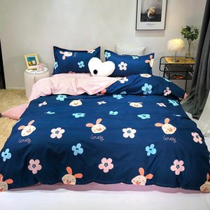 Cute piggy flowers Classic fashion bed linen bedding set duvet cover flat bed sheet pillowcase king queen full single size