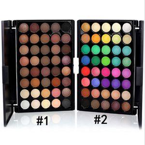 Maquillaje directo de fábrica Popfeel 40 colores mate desnudo impermeable sombra de ojos paleta 2 colores diferentes DHL envío gratis