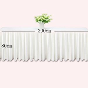 0.8 * 3 متر الجدول التنانير الأبيض الجليد الحرير الجداول الزفاف تنورة القماش الديكور الحدث فندق فندق المنزل التفاف الوردي
