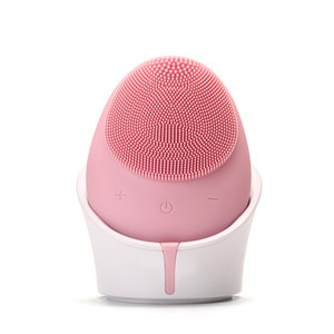 Wireless charging Facial Cleanser 5 vibration levels automatic stop 3 different brush heads IPX6 level waterproof cleansing facial