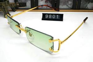 senza montatura occhiali da sole montature da vista per le donne di bufalo occhiali corno uomini occhiali da sole occhiali oculos de grau feminino Monturas de gafas