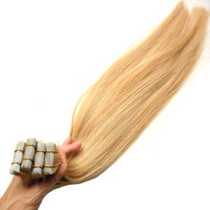 Capelli Remy 2.5 g per pezzo 200 g 100% Real Remy Destensione dei capelli umani 80pcs Platinum Blonde Nastro in estensione dei capelli