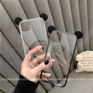 DHL-Cartoon Transparent Cell Phone Cases Soft Case Fitted Case Cute Stereo Ears For Apple iphone 11 XR XS