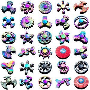 Caliente de la persona agitada Spinner metal antiestrés giroscopio Niños Gyro dedo de la mano Spinner estrés Manilla del dispositivo de Spiner Fidget y juguetes para adultos