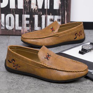 Мужчины Мокасины платье обувь весна осень Мужской Driving кроссовки Черного Хаки Повседневная Модная Европейские Модная Обувь для досуга