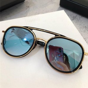 Nova Moda Óculos De Sol SPACECRAFT Trend Pilot Frame Designer Óculos de sol avant-garde ao ar livre Estilo UV400 Óculos de proteção Vem com o caso