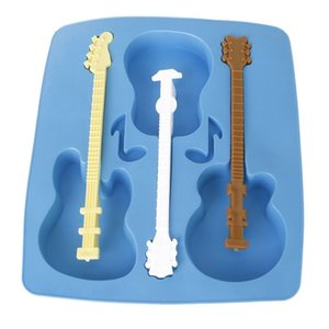 Mould in silicone ice tray-shaped guitar Ice cube tray Ice Cream Tools