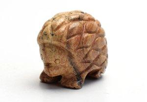 1,5 POUCES Longueur Petite taille Image naturelle Jasper Sculpté cristal Reiki Hedgehog Statue