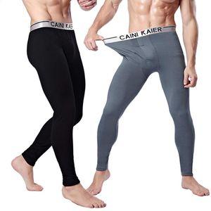 pantaloni da uomo biancheria intima caldo lungo inverno più cotone argento ispessimento modale velluto Leggings bordo il trasporto libero