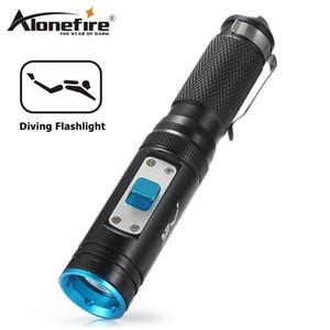 Diving AloneFire DV50 torcia LED CREE XM-L2 80m impermeabile Tactical Flashlight ricerca immersione avventura e soccorso Torcia 18650