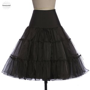 Tutu-Rock Silps Schwingen Rockabilly Underskirt Krinoline Fluffy Pettiskirt für Hochzeit Brautweinlese-Frauen Petticoat-Kleid