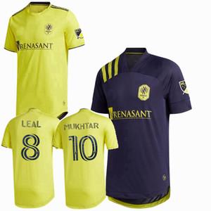 새로운 2020 2021 내쉬빌 SC 축구 유니폼 무크 타르 LEAL MLS (20) (21) 축구 스포츠 남성과 어린이 셔츠