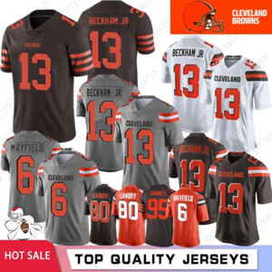 13 Odell Beckham Jr Cleveland 6 Baker Mayfield Brown jerseys 27 Kareem Hunt jerseys 21 Denzel Ward, 73 Joe Thomas para hombre 80 Landry 2020 Nuevo