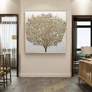 Arte Home da parede decorativa Nordic Estilo Poster Prints Canvas pintura abstrata Golden Tree Modular quadros modernos para sala