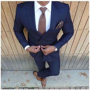 Men's Slim Fit Suit Shawl Lapel 2 Piece Jacket Pants Sets Weste Men Wedding Suits Groom Blazer Vintage Formal Tuxedo Custom 2020