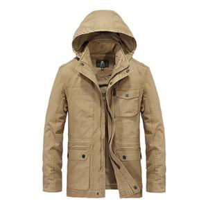 trasporto libero AFS abbigliamento invernale jeep giacche lunghe 2018 mens desinger outwear gli uomini lungo cappotto manica