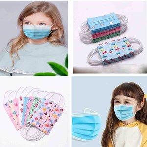 mascherina Dast y la niebla azul de kn95 niños desechable mascarilla de dibujos animados de los niños del niño de 3 capas capas máscara Earloop no Tejidos de envío de DHL