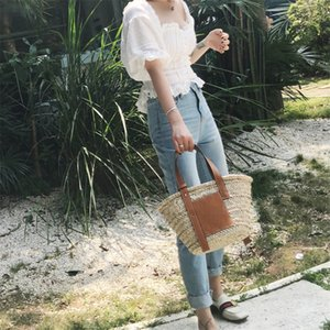 الموضة الجديدة الصديقة للبيئة حقيبة سترو المحمولة متعددة الاستخدامات سلة الخضار حقيبة يد انخفاض أسعار الجملة
