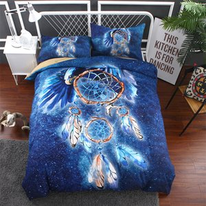 3d duvet cover king size blue Dreamcatcher bedding set Pillowcase Bedspreads Bohemian Quilt Cover queen Size bed line