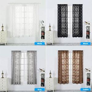 Linterna de flores cortadas burbuja de impresión Persianas cortinas mitad de cortinas opacas para la vida cortinas de la sala de cortina corta negro
