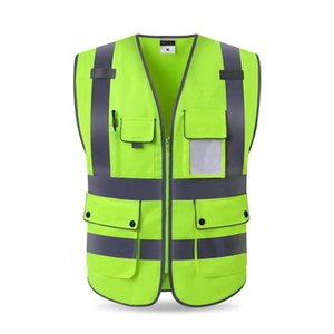 High Quality High Visibility Reflective Vest Working Clothes Motorcycle Cycling Sports Outdoor Reflective Safety Clothing #039 T191226