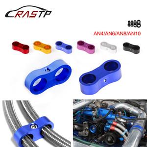 Por escaleras-RASTP montón Suministro de combustible Tratamiento Billet Dual 4 11/6 14/8 16mm / 10 20MM Manguera trenzada Separador abrazadera del cable sujetador RS-HR013-AN4 -...